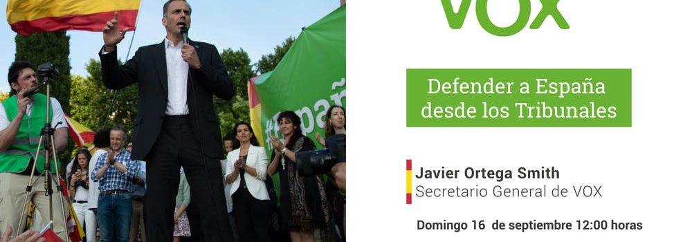 Denuncia contra Francisco Javier Ortega Smith-Molina, secretario general de VOX